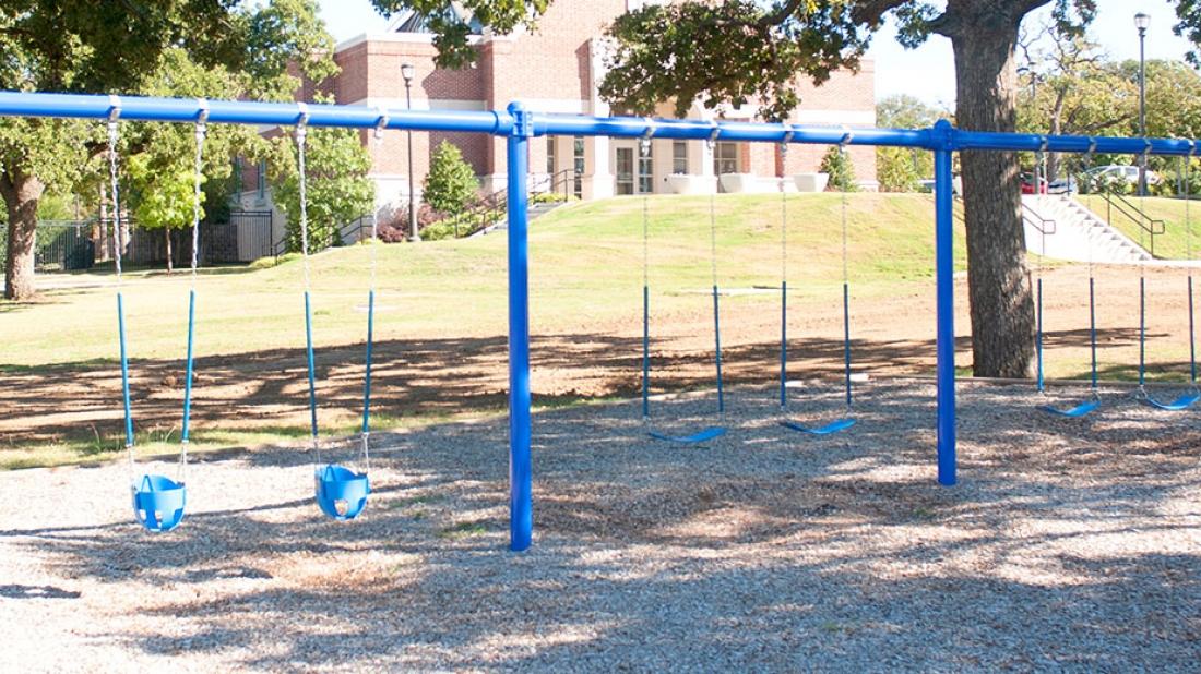 Swings at Church Playground