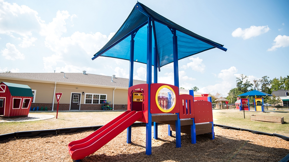 shaded play space