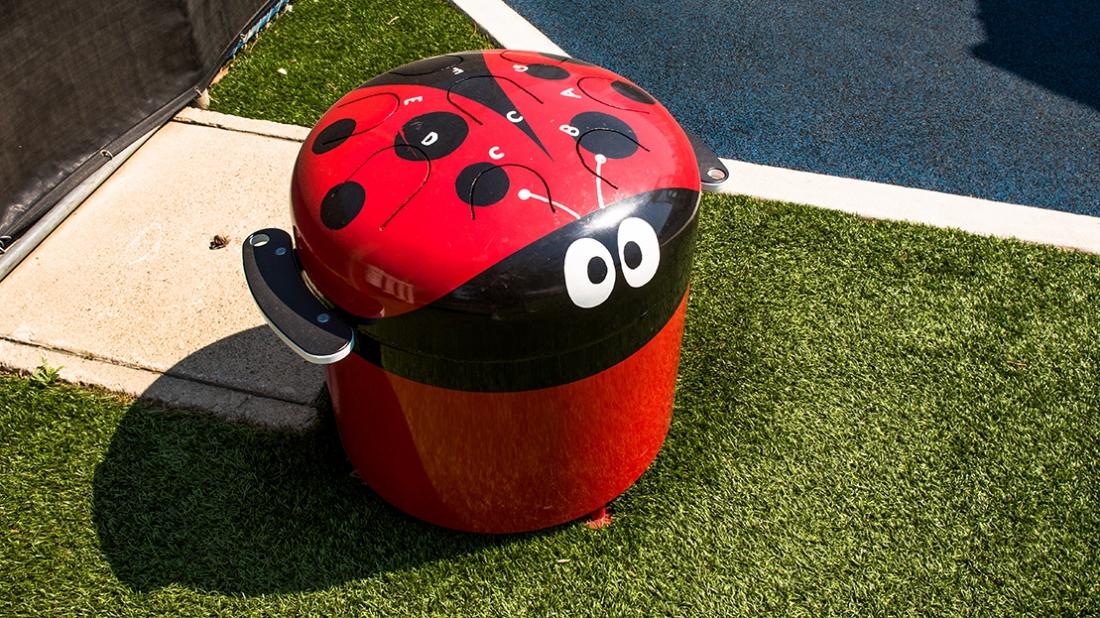 lady bug percussion design